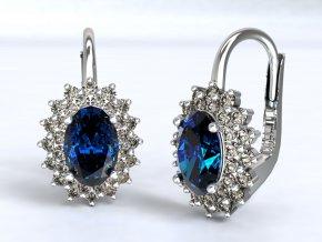 Zlaté náušnice klapky dvojitá Diana 1211301