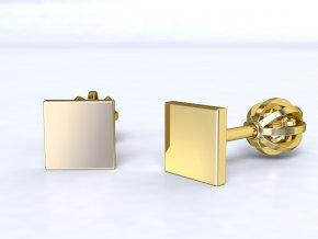 Zlaté šroubky čtvereček 9921370101