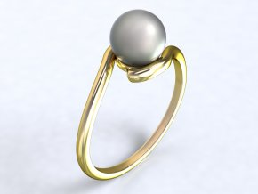 Zlatý prsten s perlou 30880101
