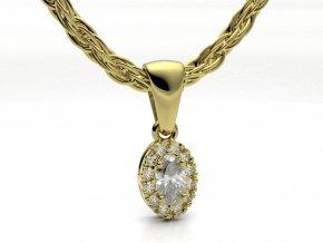 Zlatý přívěsek s kameny 1105001