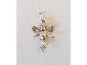 Přívěsek anděl celá postava stříbrný 120001