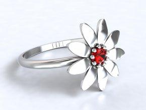 Stříbrný prsten kopretina 326801