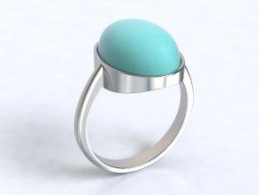 Stříbrný prsten s tyrkysem 326901