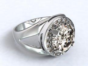 Stříbrný prsten oko 317001