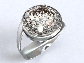Stříbrný prsten oko