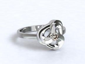 Stříbrný prsten twister 327301