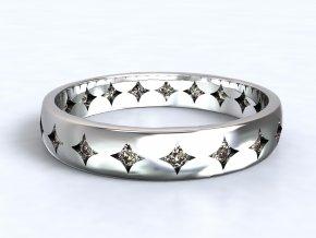 Stříbrný prsten orion