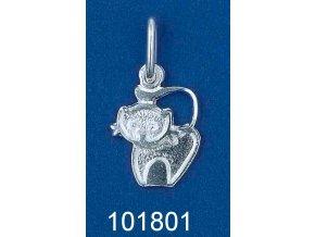 Stříbrný přívěsek kočička 101801
