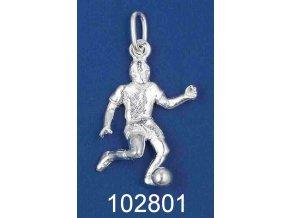 Stříbrný přívěsek fotbalista 102801