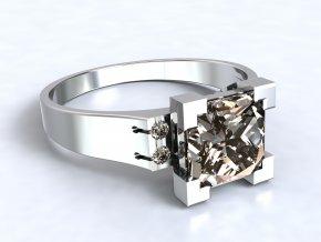 Stříbrný prsten věž 317301