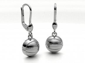 Stříbrné náušnice míč na beach volejbal 206601