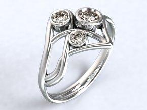 Stříbrný prsten špička 318001