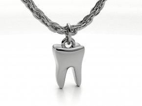 Stříbrný přívěsek zub 122301