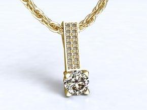 Zlatý přívěsek s kameny 1107001