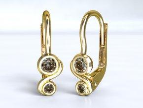 Zlaté náušnice dva obloučky 1203801