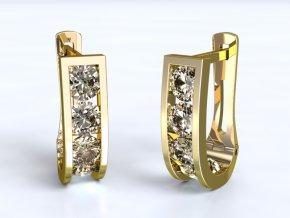 Zlaté náušnice na patent 1204901