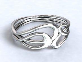 Stříbrný prsten Irsko