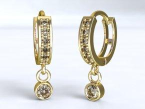 Zlaté kroužky s přívěskem 1205401