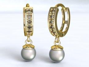 Zlaté kroužky s perlou 1205501