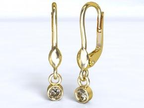 Zlaté náušnice s kulatou ozdobou 1205601