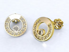 Zlaté šroubky kolečko 1207801