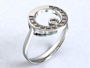 Stříbrný prsten sněhulák 319001
