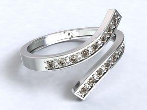 Stříbrný prsten otevřený 319101