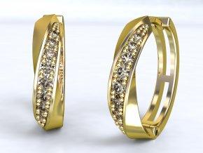 Zlaté kroužky přetočené 1210301