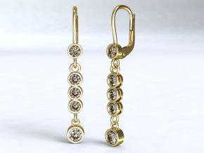 Zlaté náušnice kolečka 1211001