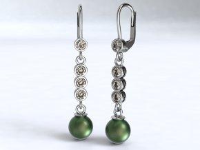 Zlaté náušnice kolečka s perlou 1211101