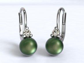 Zlaté náušnice perla se zirkonem 1212401