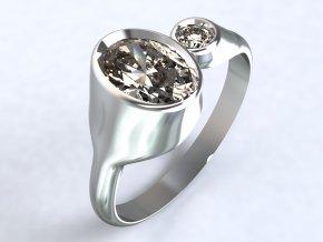 Stříbrný prsten Trosky