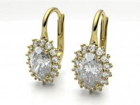 Zlaté náušnice mini Diana 1214001