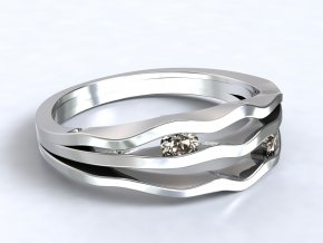 Stříbrný prsten říčka 319501