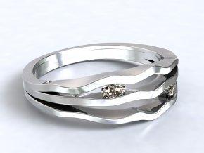 Stříbrný prsten říčka