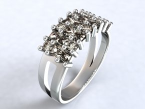 Stříbrný prsten hranatý ježek 319701