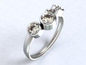 Ag925 prsten čtyři kotlíky