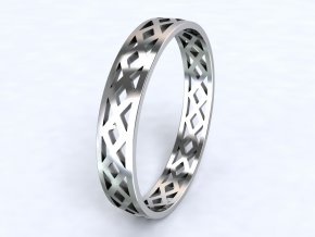 Stříbrný prsten apač