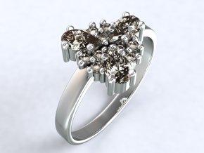 Ag925 prsten trojlístek