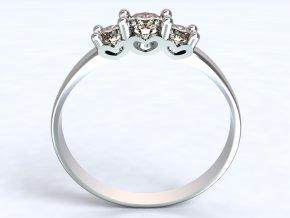 Stříbrný prsten srdíčka ze strany