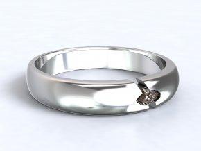 Stříbrný prsten navetka