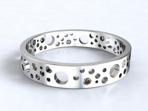 Stříbrný prsten ementál 321801