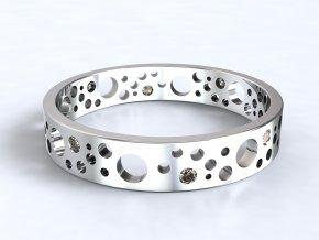 Stříbrný prsten ementál