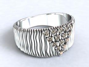 Stříbrný prsten pyramida 322001