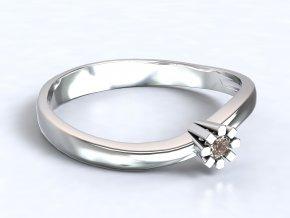 Stříbrný prsten mini korunka