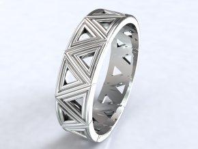 Ag925 prsten trojúhelníky
