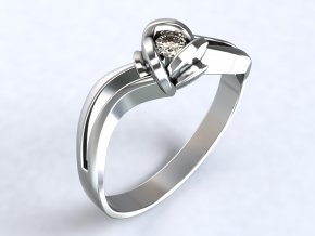 Ag925 prsten růže zirkon