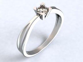 Ag925 prsten hranatý kotlík