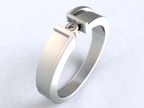 Stříbrný prsten zetko