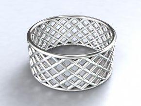 Stříbrný prsten síť